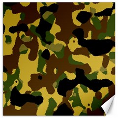 Camo Pattern  Canvas 12  X 12  (unframed) by Colorfulart23