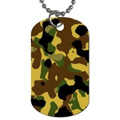 Camo Pattern  Dog Tag (two Sided)  by Colorfulart23