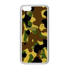 Camo Pattern  Apple iPhone 5C Seamless Case (White) by Colorfulart23