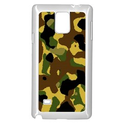 Camo Pattern  Samsung Galaxy Note 4 Case (white) by Colorfulart23