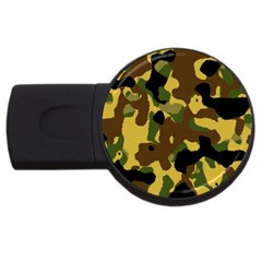 Camo Pattern  2gb Usb Flash Drive (round) by Colorfulart23