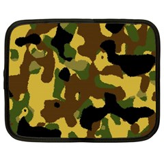 Camo Pattern  Netbook Sleeve (large) by Colorfulart23
