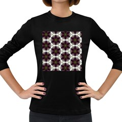 Cute Pretty Elegant Pattern Women s Long Sleeve T Shirt (dark Colored) by creativemom