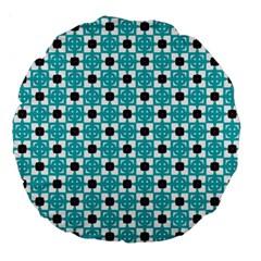 Cute Pretty Elegant Pattern 18  Premium Round Cushion  by creativemom