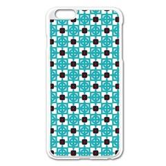 Cute Pretty Elegant Pattern Apple Iphone 6 Plus Enamel White Case by creativemom