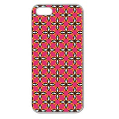 Cute Pretty Elegant Pattern Apple Seamless Iphone 5 Case (clear) by creativemom