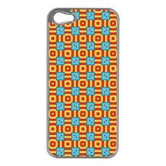Cute Pretty Elegant Pattern Apple Iphone 5 Case (silver) by creativemom