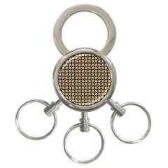 Cute Pretty Elegant Pattern 3 Ring Key Chain by creativemom