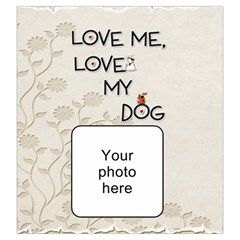 Love My Dog Large Drawstring Pouch By Lil    Drawstring Pouch (large)   Gautuv6lvfhc   Www Artscow Com Front