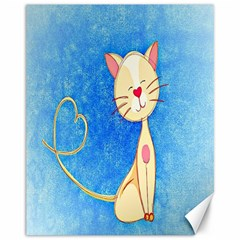Cute Cat Canvas 11  X 14  (unframed) by Colorfulart23