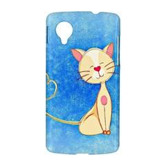 cute cat Google Nexus 5 Hardshell Case by Colorfulart23