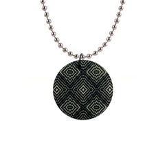 Geometric Futuristic Grunge Print Button Necklace by dflcprints