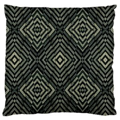 Geometric Futuristic Grunge Print Large Cushion Case (two Sided)  by dflcprints