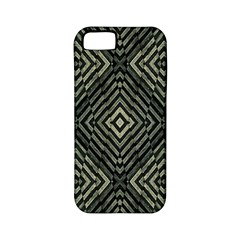 Geometric Futuristic Grunge Print Apple Iphone 5 Classic Hardshell Case (pc+silicone) by dflcprints