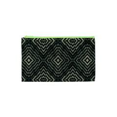 Geometric Futuristic Grunge Print Cosmetic Bag (xs) by dflcprints