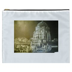 Thunder monochrome  Cosmetic Bag (XXXL) by Luxuryprints