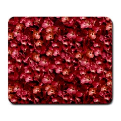 Warm Floral Collage Print Large Mouse Pad (rectangle) by dflcprints