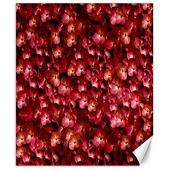 Warm Floral Collage Print Canvas 8  X 10  (unframed) by dflcprints
