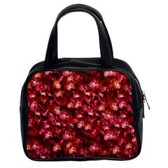 Warm Floral Collage Print Classic Handbag (two Sides) by dflcprints