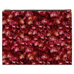 Warm Floral Collage Print Cosmetic Bag (xxxl) by dflcprints