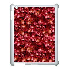 Warm Floral Collage Print Apple Ipad 3/4 Case (white) by dflcprints