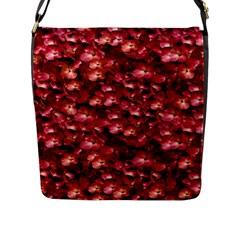 Warm Floral Collage Print Flap Closure Messenger Bag (large) by dflcprints