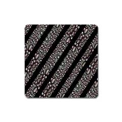 Organic Texture Stripe Pattern Magnet (square) by dflcprints