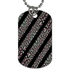 Organic Texture Stripe Pattern Dog Tag (one Sided) by dflcprints