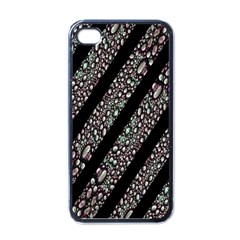 Organic Texture Stripe Pattern Apple Iphone 4 Case (black) by dflcprints