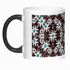 Modern Floral Geometric Pattern Morph Mug by dflcprints