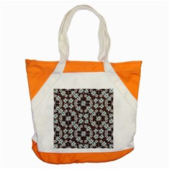 Modern Floral Geometric Pattern Accent Tote Bag by dflcprints