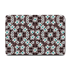 Modern Floral Geometric Pattern Small Door Mat by dflcprints