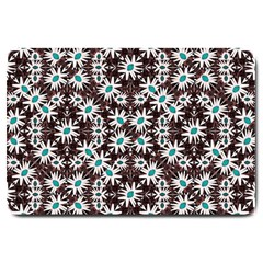 Modern Floral Geometric Pattern Large Door Mat by dflcprints