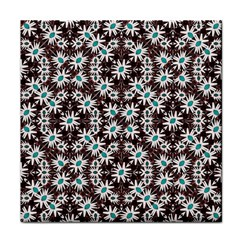 Modern Floral Geometric Pattern Face Towel by dflcprints