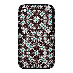 Modern Floral Geometric Pattern Apple Iphone 3g/3gs Hardshell Case (pc+silicone) by dflcprints