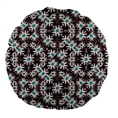 Modern Floral Geometric Pattern 18  Premium Round Cushion  by dflcprints