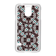 Modern Floral Geometric Pattern Samsung Galaxy S5 Case (white) by dflcprints