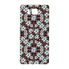 Modern Floral Geometric Pattern Samsung Galaxy Alpha Hardshell Back Case by dflcprints