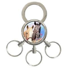 Miwok Horses 3 Ring Key Chain by JulianneOsoske