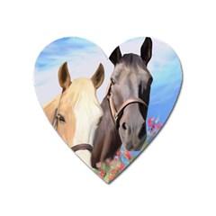 Miwok Horses Magnet (heart) by JulianneOsoske