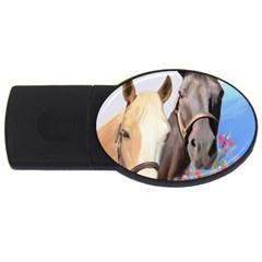 Miwok Horses 4GB USB Flash Drive (Oval) by JulianneOsoske