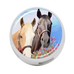 Miwok Horses 4 Port Usb Hub (two Sides) by JulianneOsoske