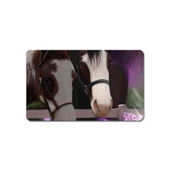 Two Horses Magnet (name Card) by JulianneOsoske