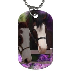 Two Horses Dog Tag (two Sided)  by JulianneOsoske