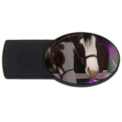 Two Horses 2gb Usb Flash Drive (oval) by JulianneOsoske