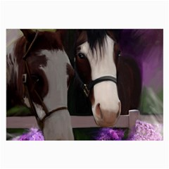 Two Horses Glasses Cloth (large, Two Sided) by JulianneOsoske