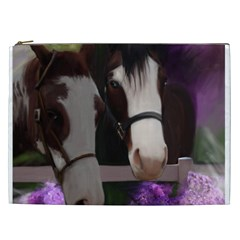 Two Horses Cosmetic Bag (xxl) by JulianneOsoske
