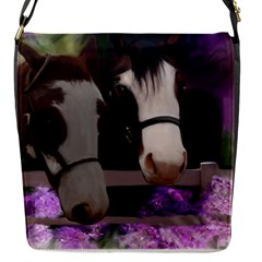 Two Horses Removable Flap Cover (small) by JulianneOsoske