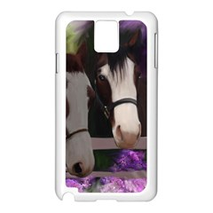 Two Horses Samsung Galaxy Note 3 N9005 Case (white) by JulianneOsoske
