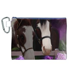 Two Horses Canvas Cosmetic Bag (xl) by JulianneOsoske